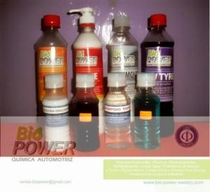 bio power. productos de limpieza y quimicos automotriz. insumos quimicos de limpieza