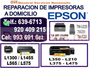 servicio técnico (993-691-682) de impresoras epson a domicilio