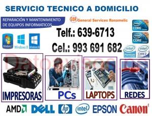 soporte técnico (993-691-682) de computadoras, laptop e impresoras epson y hp a domicilio