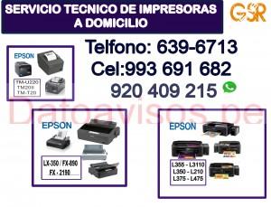 asistencia técnica de impresoras epson (993691682) y reparación a domicilio