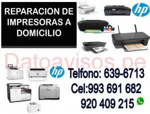 impresoras hp servicio técnico y reparación a domicilio 993691682