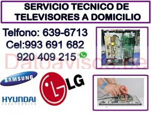 servicio técnico 993691682 y reparación de televisores lg y hyundai  a domicilio san borja, surqui