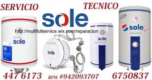 servicio tecncio terma sole a domicilio 4476173  /6750837