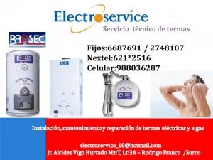 servicio tecnico de termas brasec // lima // surco