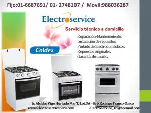 servicio tecnico  autorizado en cocinas coldex lima