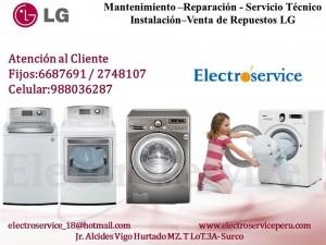 servicio t�cnico reparaci�n mantenimiento de lavadoras  (( lg )) 98803