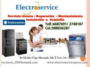 servicio técnico autorizado  * *6687691 *  indurama  ***refrigeradoras