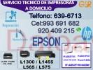 servicio técnico 993-691-682 y asistencia impresoras epson y hp domicilio reparación